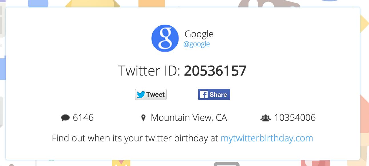 find twitter id