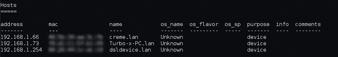 How to find the OS of a device on the network(7)